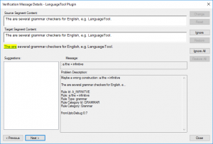 LanguageTool Error English 15