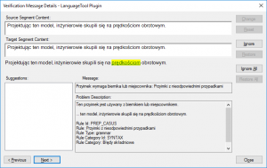 LanguageTool Error Polish 3