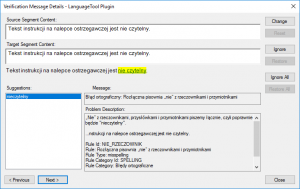 LanguageTool Error Polish 9